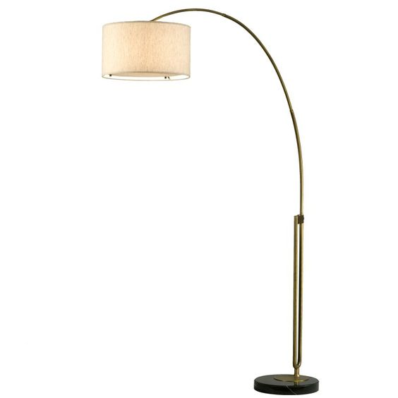 NOVA of California Viborg 2110105 Floor Lamp Brass/Tan - 2110104