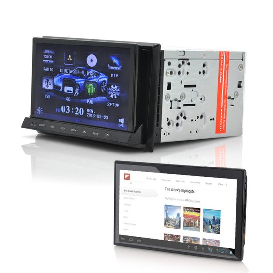Car DVD Player + Detachable Tablet - CVITT