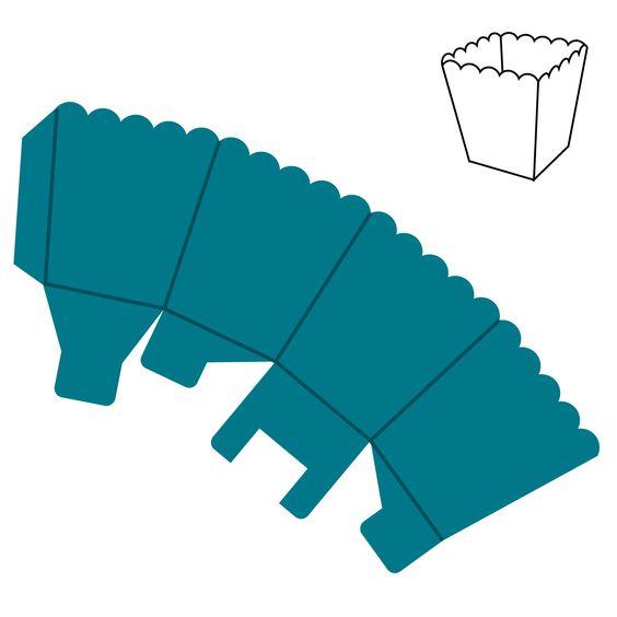 Box popcorn mini accucut decor and ideas for for Popcorn container template
