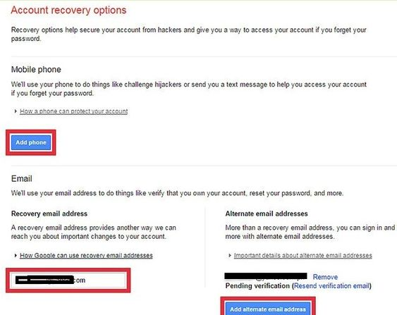 Reset SBCGlobal email password - Access the alternate email id