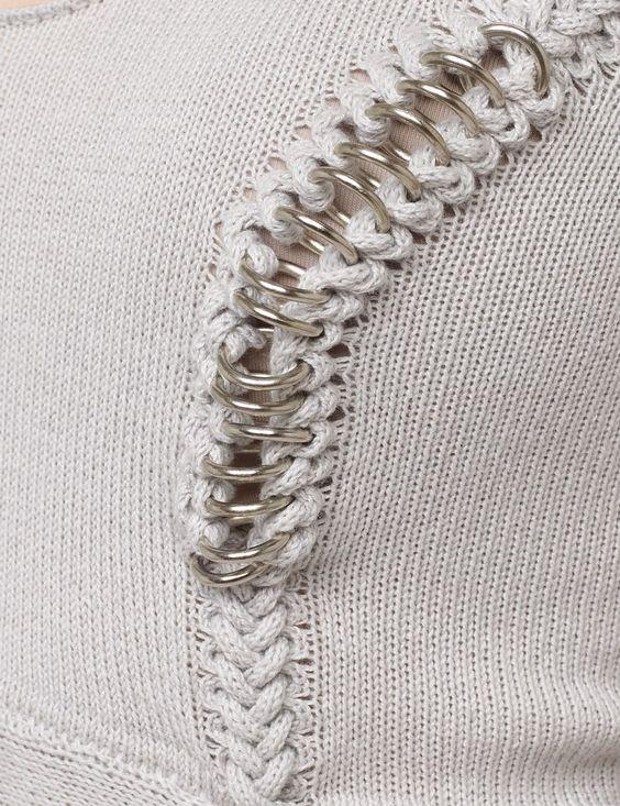 Grey Lily Handknitted Cotton Dress | Felder Felder | Avenue32