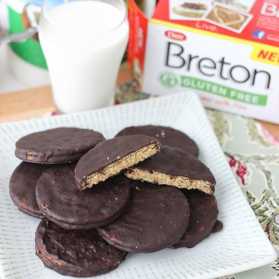 Chocolate- And Almond-Dipped Sandwich Cookies Recipe — Dishmaps