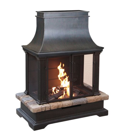 The Sevilla Wood Burning Outdoor Fireplace is the perfect answer for extending your outdoor entertaining season. Your guests will adore this delightful and cozy fireplace as you relax in front of the