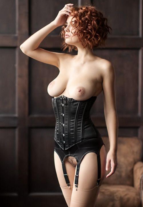 corset lingerie bottomless garters stockings  reblog