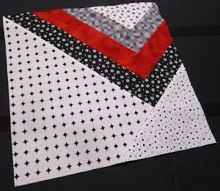 Modern Block of the Month #4 ~ this is a block, but I think it would make a nice quilt back.