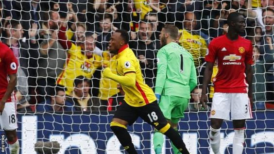 Manchester United suffered their third defeat in a week as late goals from Juan Zuniga and Troy Deeney gave Watford a deserved Premier League win.