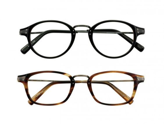 titanium and acetate frames from masunaga