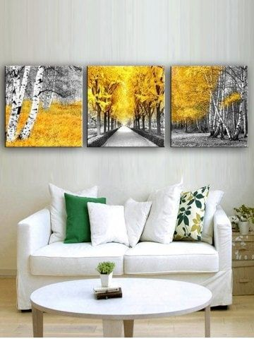 Maple Forest Print Unframed Split Canvas Paintings Canvas Wall Art Set Canvas Art Projects