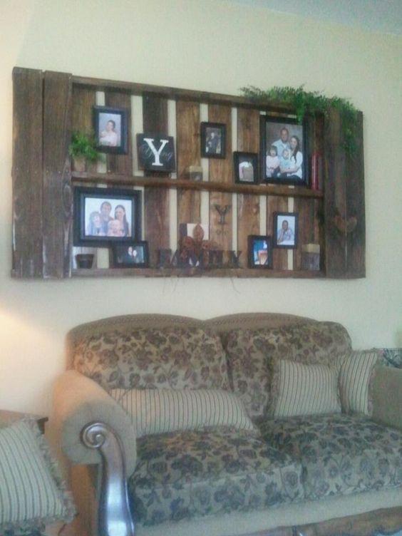 My pallet shelf