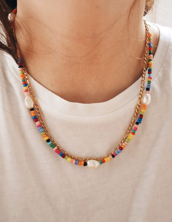 DIY, basteln, Perlen, Schmuck, Armband, Kette, Süßwasserperlen, Perlenkette, Perlenarmband, selbstgemacht