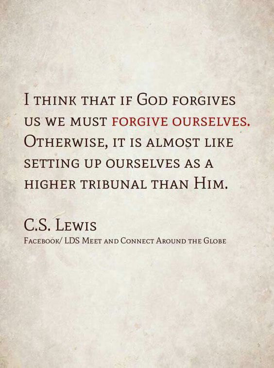 Forgiveness of self, C.S. Lewis                              …