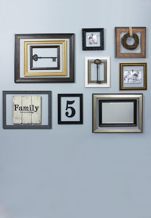 Layered Look Wall Collage Frames On Wall Frame Wall Collage