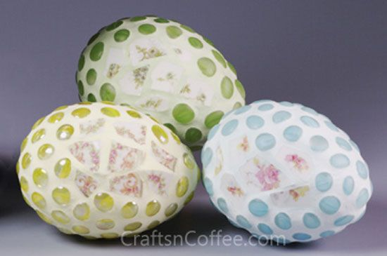 Glass gem mosaic eggs tutorial broken china medalions and tinted grout are a nice twist - Smashing glass coasters ...