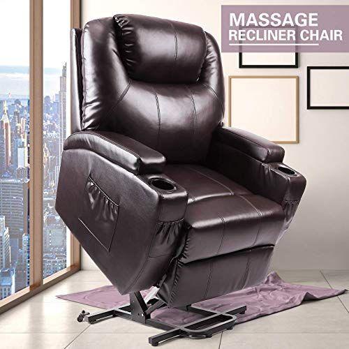 New Artist Hand Power Lift Recliner Lift Leather Chair Elderly