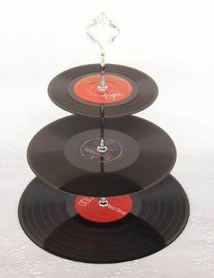 Record Cup Cake Stand 3 Tier by veronica.walsh.1