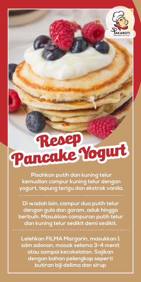 Resep Pancake Yogurt Ide Makanan Makanan Ringan Manis Makanan