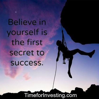 Motivational quote: Believe in yourself is the first secret to success.