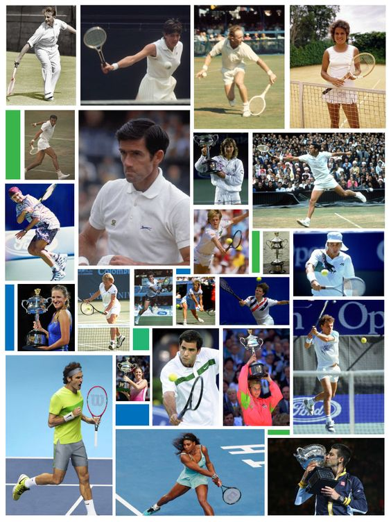 STYLE & DOMINANCE: AUSTRALIAN OPEN THEN AND NOW  Images ©Getty / ATP / WTA / ITF / All other respective owners / All Rights Reserved | Montage Design ©Krona o Stjärna