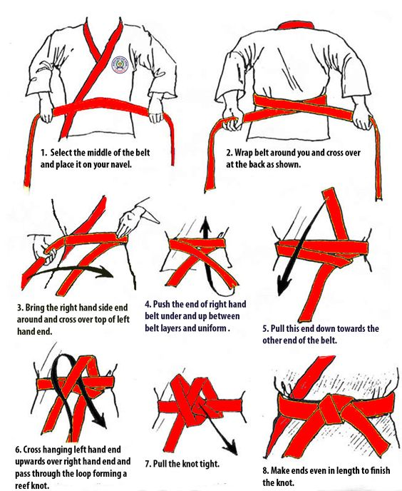 how to tie karate belt search fam