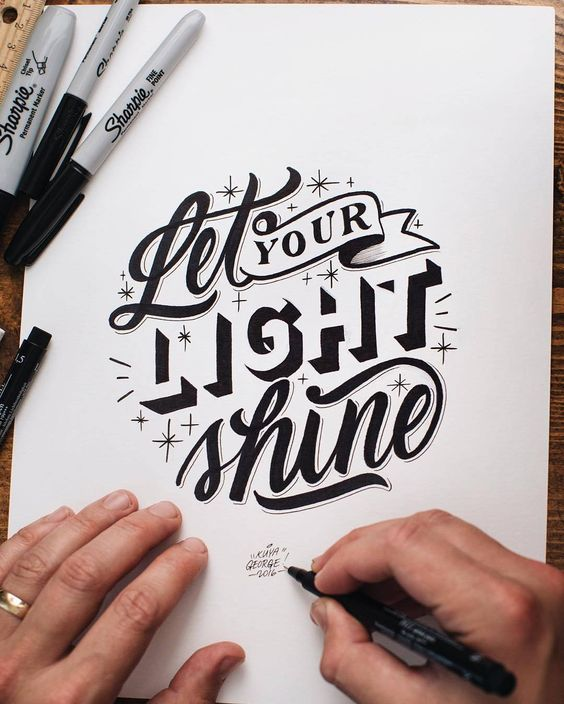 Love that negative space lettering.  Type by @kuyageorge  #typegang - typegang.com