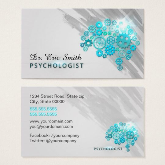 Psychologist Business Card Zazzle Com In 2021 Psychologist Business Card Psychologist Business Visiting Card Design