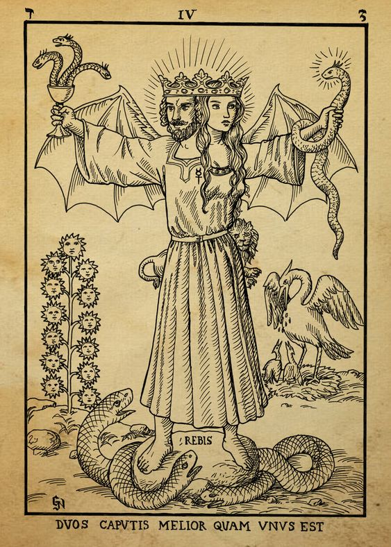 medieval alchemy tarot heraldry Alchemy woodcut abrac ad ab ara herlandian Dashinvaine: