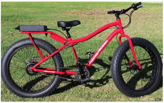 """Pedego's new monster electric bike: 4"""" tires to ride on sand and off road trails - 20mph"""