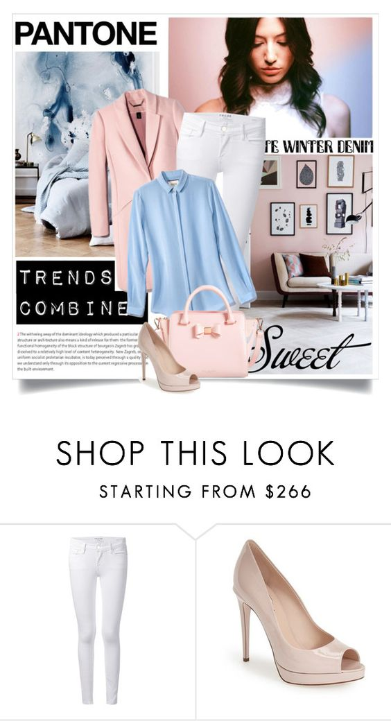 """""""Trends combined"""" by danielle-broekhuizen ❤ liked on Polyvore featuring moda, Oris, Frame Denim e Fendi"""