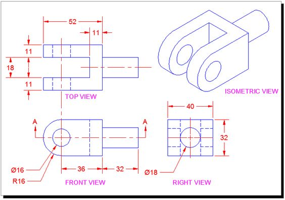 Orthographic Projection Drawing - A two-dimensional graphic representation of an object in which ...
