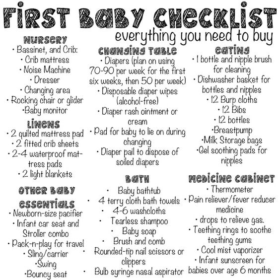 Our Blog: First baby checklist. Good to know in the future :) be organized