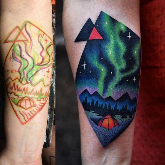 aurora borealis tattoo david cote tattoo designs
