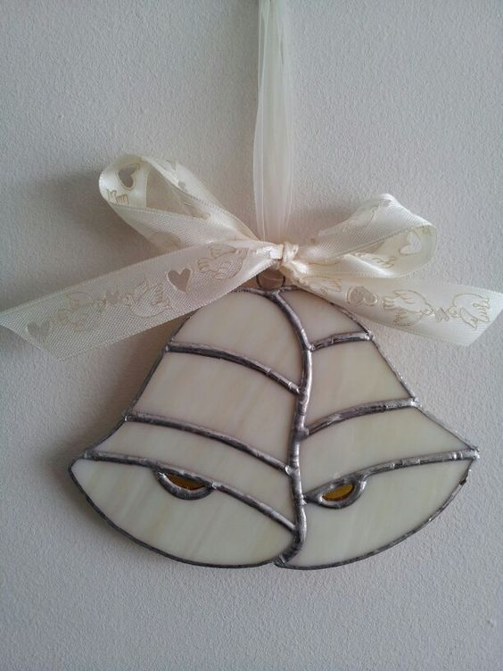 Stained glass wedding bells by Glass Gifts Garioch