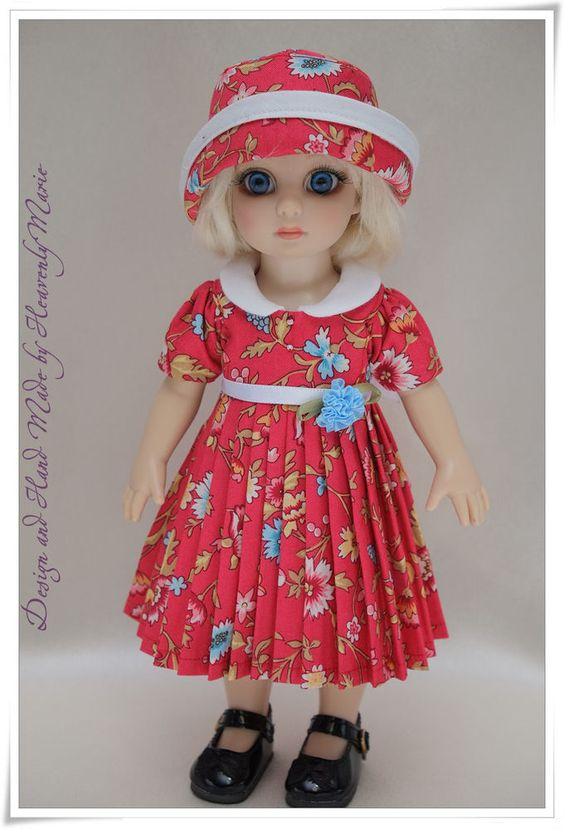 [Patsy Ann Estelle] One-Piece & Hat | Tonner doll Outfit by Heavenly Marie #Tonner #ClothingAccessories. BIN $49.99