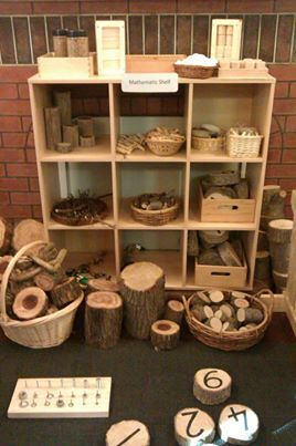 The block center can be transformed with logs, branches, sticks, rocks and other natural building materials. Wood stumps and rocks are durable and will last longer than plastic or other man-made materials. Natural building materials have different textures and smells that add to the play. #bringingtheoutdoorsinlooseparts: