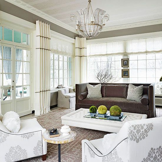Drapes For Formal Living Room: Sunroom Decorating And Design Ideas