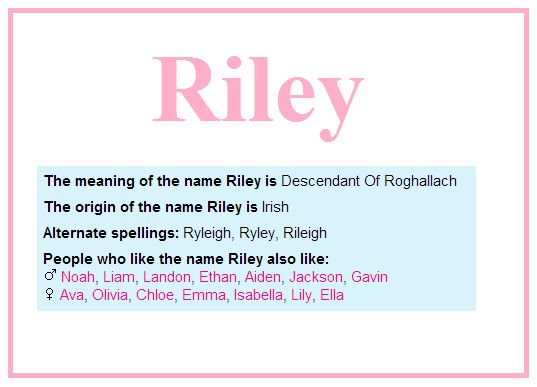 Riley Baby Name | Cuties for Kids | Pinterest | Babies ...