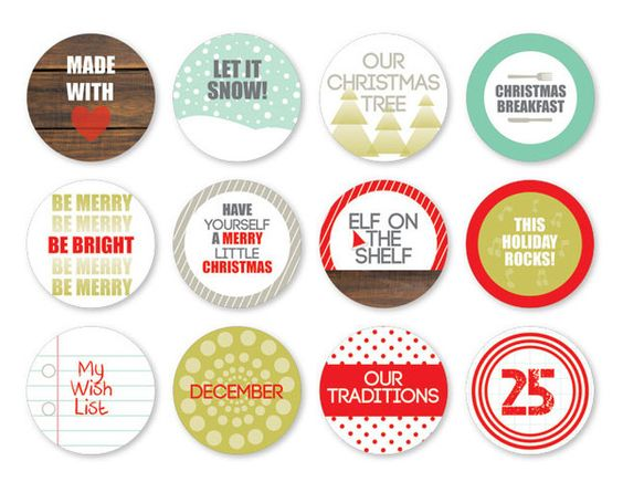 Good Tidings Icons-Chic Tags