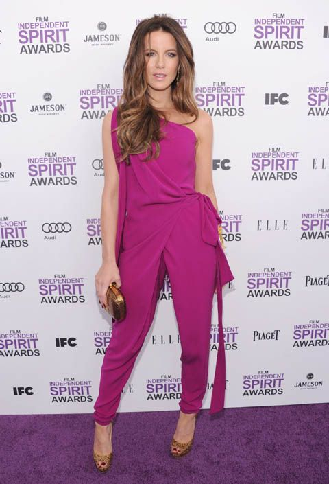 Kate Beckinsale at the 27th Film Independent Spirit Awards. Photographed by Jamie McCarthy/Getty Images.