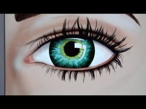 How To Draw Hyper Realistic Eye With Color Therapy App Youtube