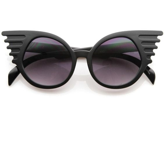 5fe87a6729 Trendy unique fashion angel wings round sunglasses 8581 ( 14) ❤ liked on Polyvore  featuring