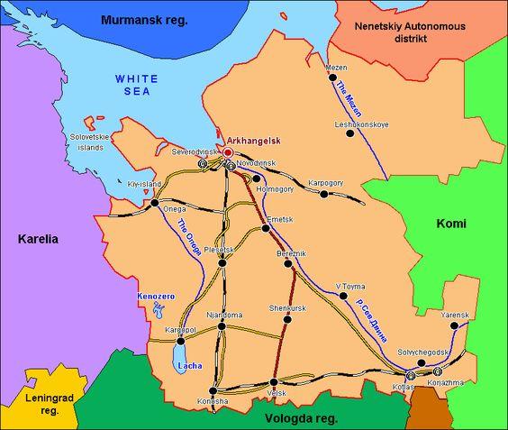 Arkhangelsk Oblast Russia MAPS Pinterest Russia
