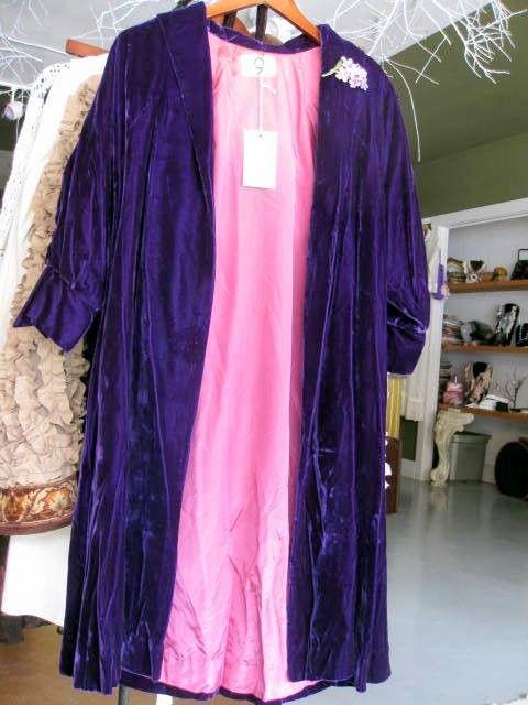 Purple Velvet Gatsby Style Swing Coat Size by stacyleighatelier, $85.00