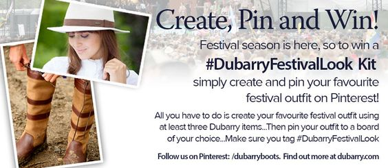Summer Festival Competition Time! Dubarry are giving you the chance to #Win a pair of Dubarry boots and a Dubarry fedora/panama style hat.