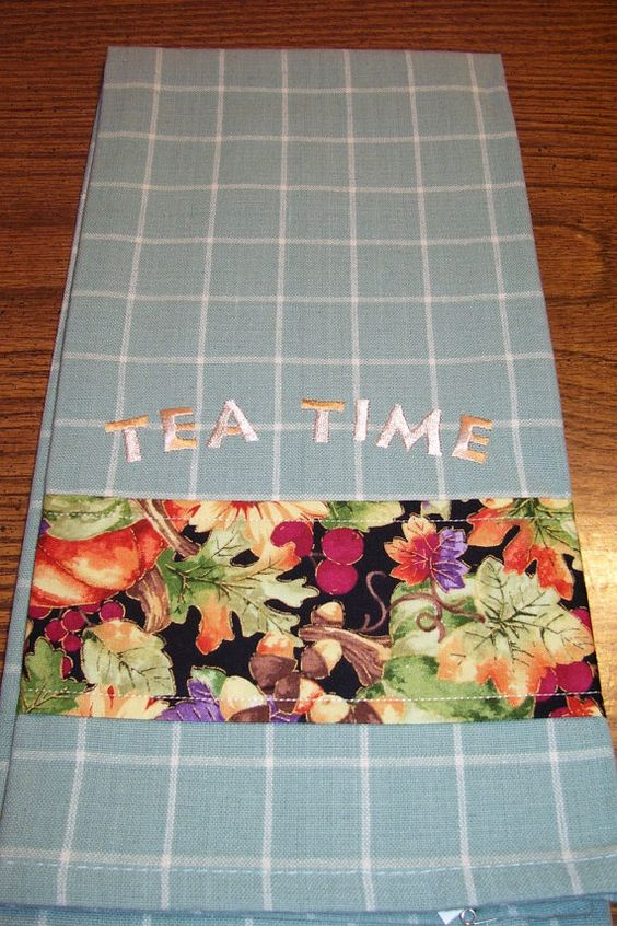 Tea Time Tea Towel by isewmuchtime on Etsy, $8.50