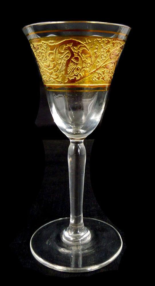 Likörglas mit oroplastischen Dekor, Joh. Oertel in Haida um 1925