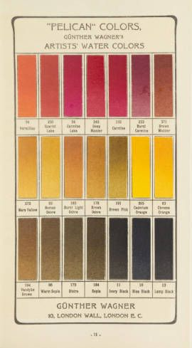 "Günther Wagners Pelikan Farben : künstlern [i.e. künstlerischen] Wasserfarben. 1900. Metropolitan Museum of Art (New York, N.Y.). Thomas J. Watson Library. Trade Catalogs. #color #pelican | ""Pelican colors"""