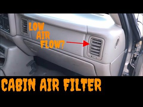 3 1999 2003 Gmc Sierra Chevy Silverado Cabin Air Filter Replacement Installation Video Youtube Chevy Silverado Cabin Air Filter Chevy
