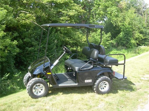 2012 Ez Go Limited Production Valor Black Gas Golf Cart 4