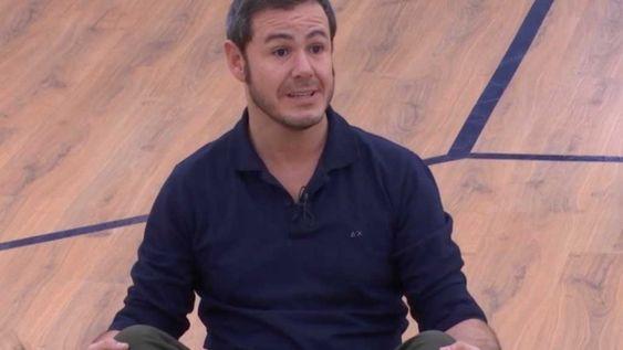 Iván Labanda, durante su disculpa