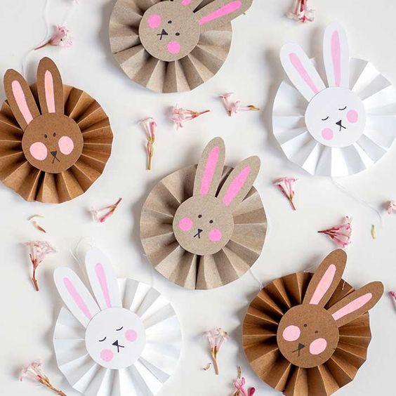 Süße DIY Osterhasen Anhänger aus Papier